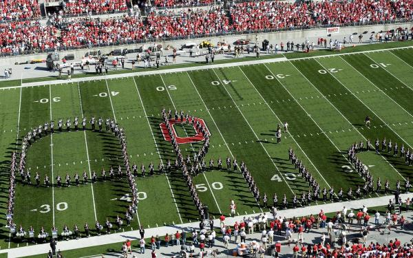 Ohio State Marching Band doing Script Ohio